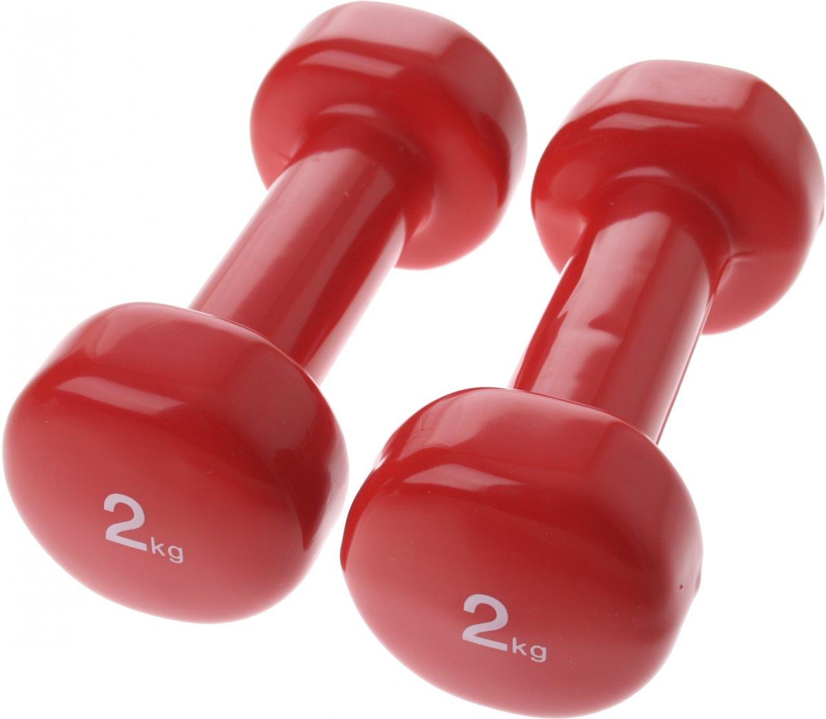 Sportec - Halterset - Unisex - Rood kopen