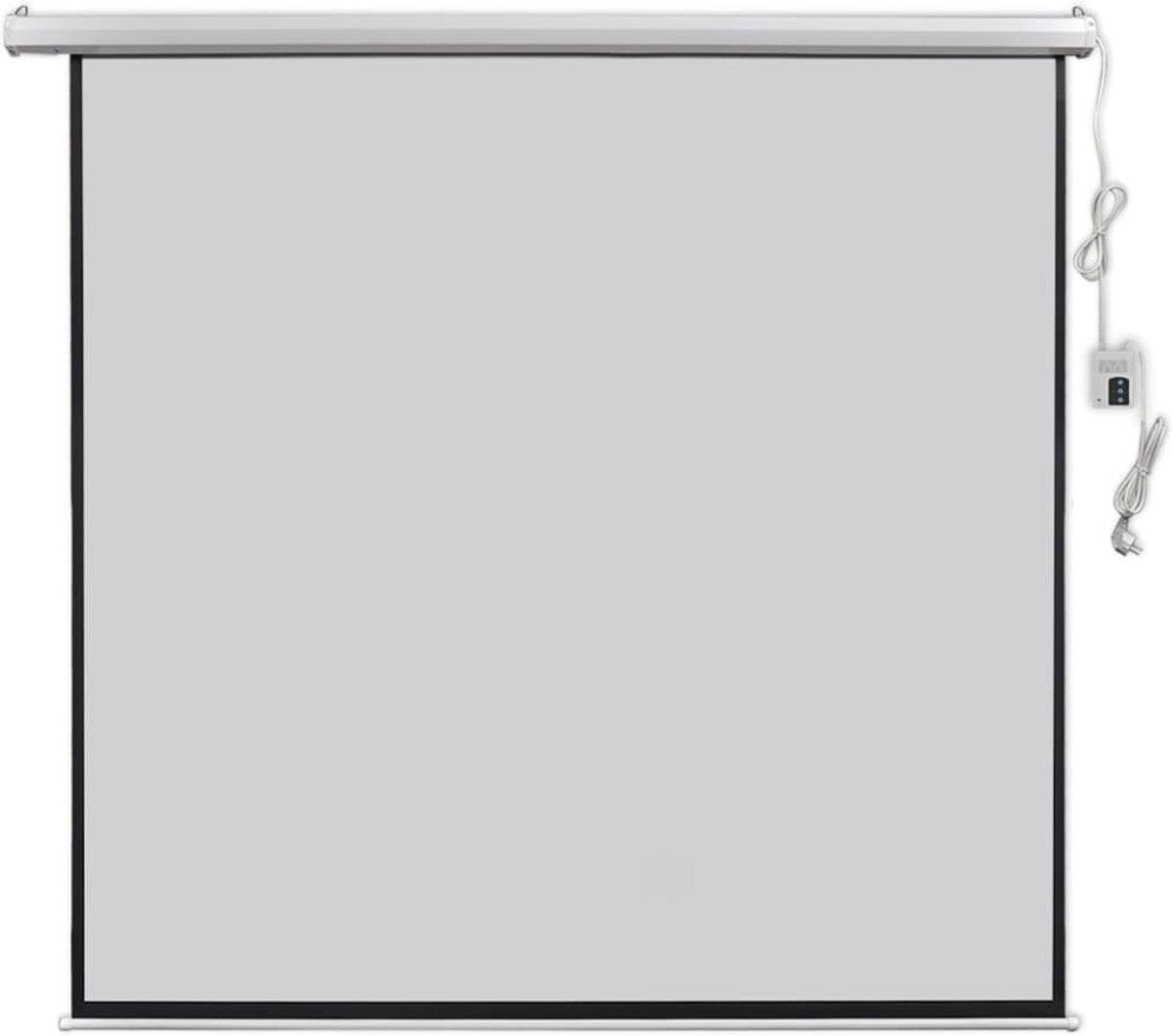vidaXL Projectiescherm met afstandsbediening elektrisch 200x200 cm 1:1 kopen