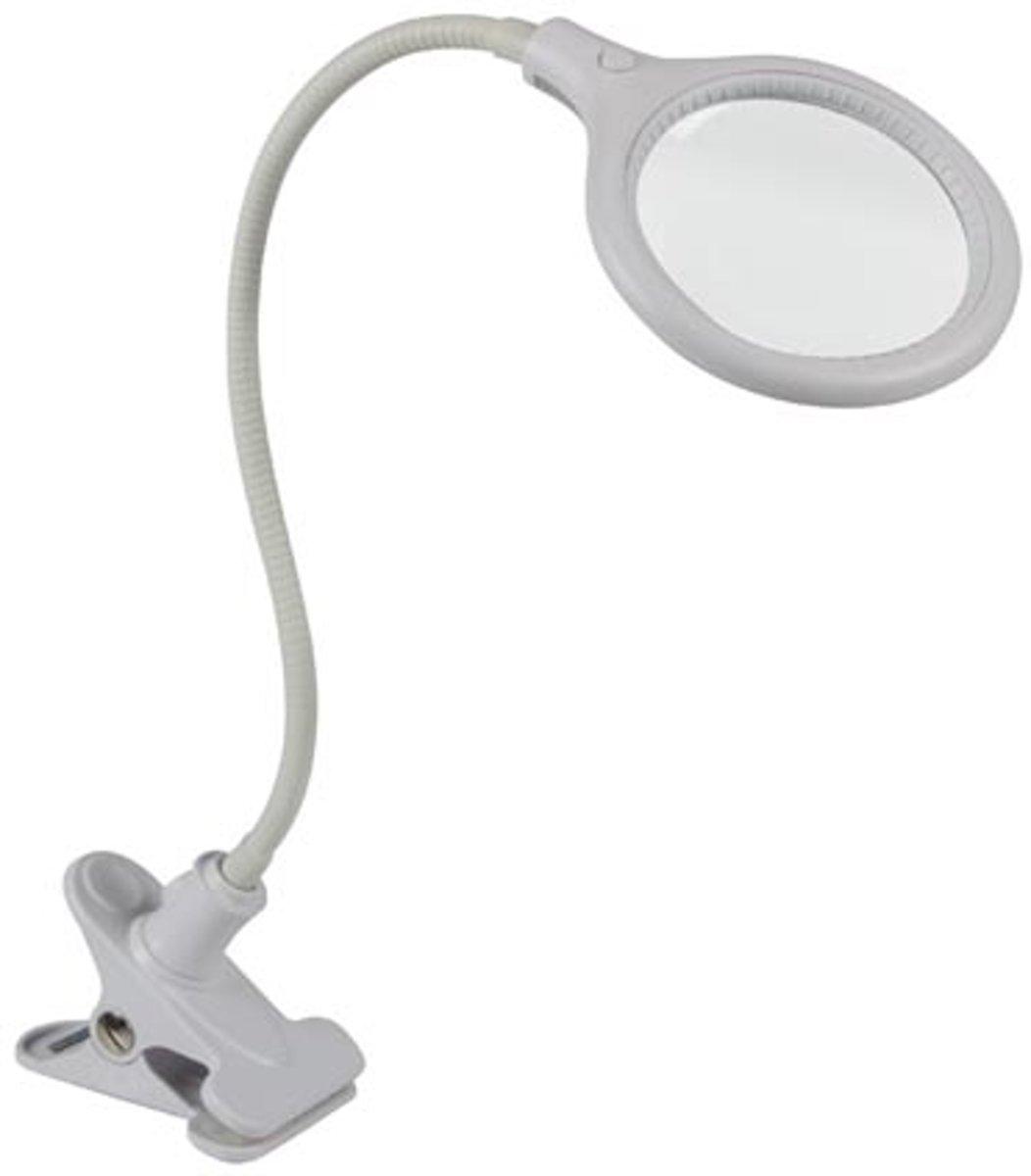 Led-Bureaulamp Met Bevestigingsklem - Loep (5 Dioptrie) - 4W - 32 Leds - Wit kopen