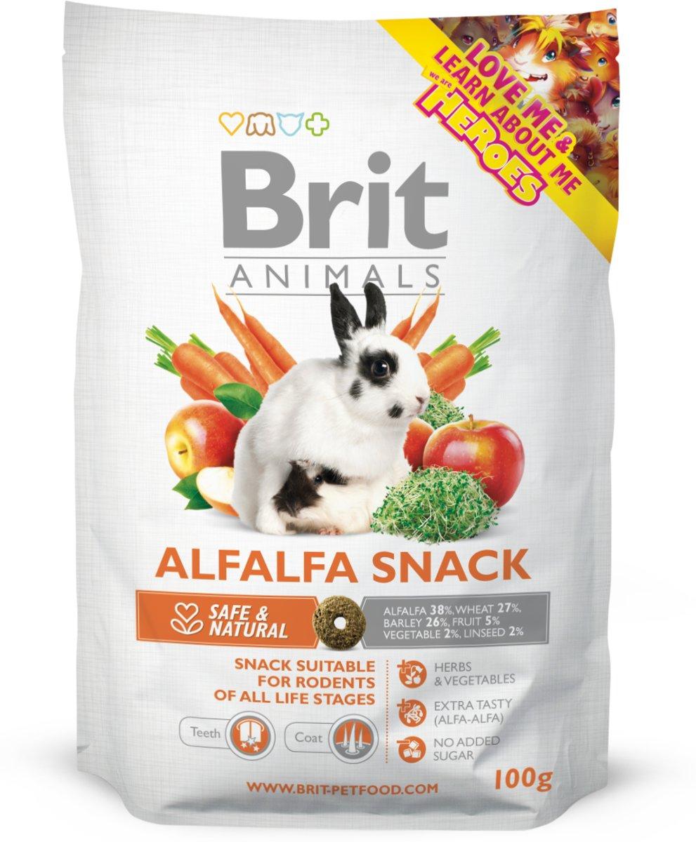 Brit animals Alfalfa snack 4x 100 gr