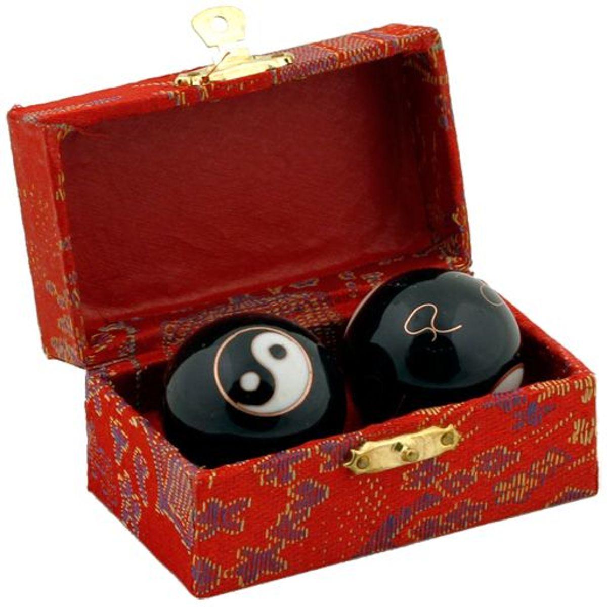 Meridiaankogels Yin Yang zwart (3.5 cm) kopen
