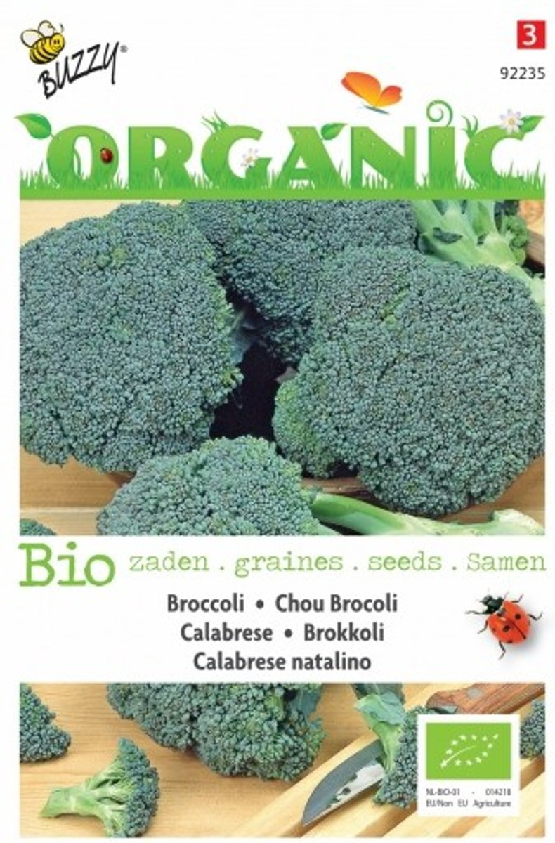 Broccoli Calabrese natalino BIO - set van 7 stuks