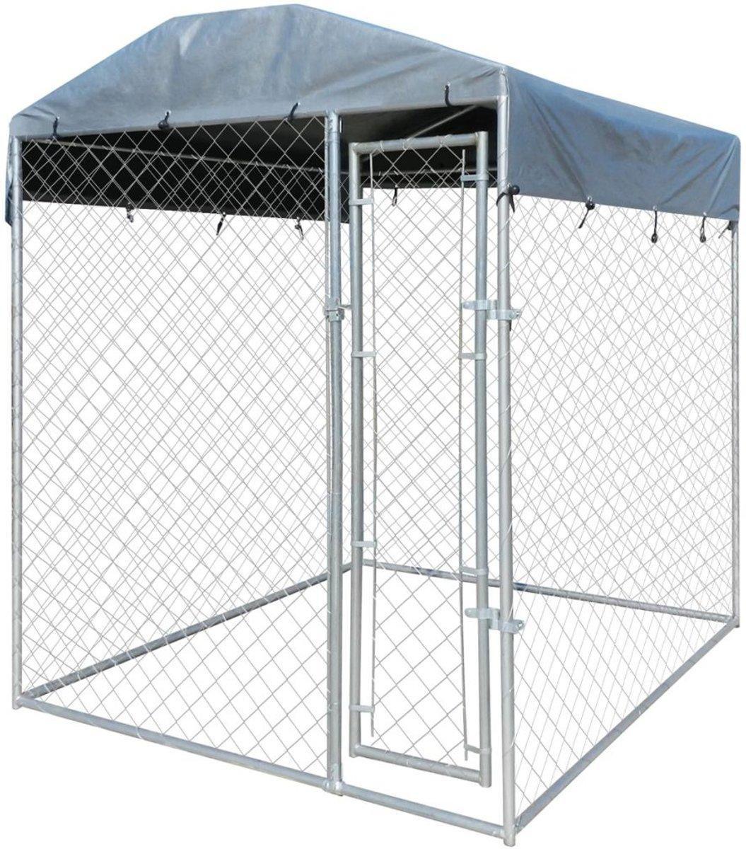 vidaXL Hondenkennel voor buiten met dak 2x2 m kopen