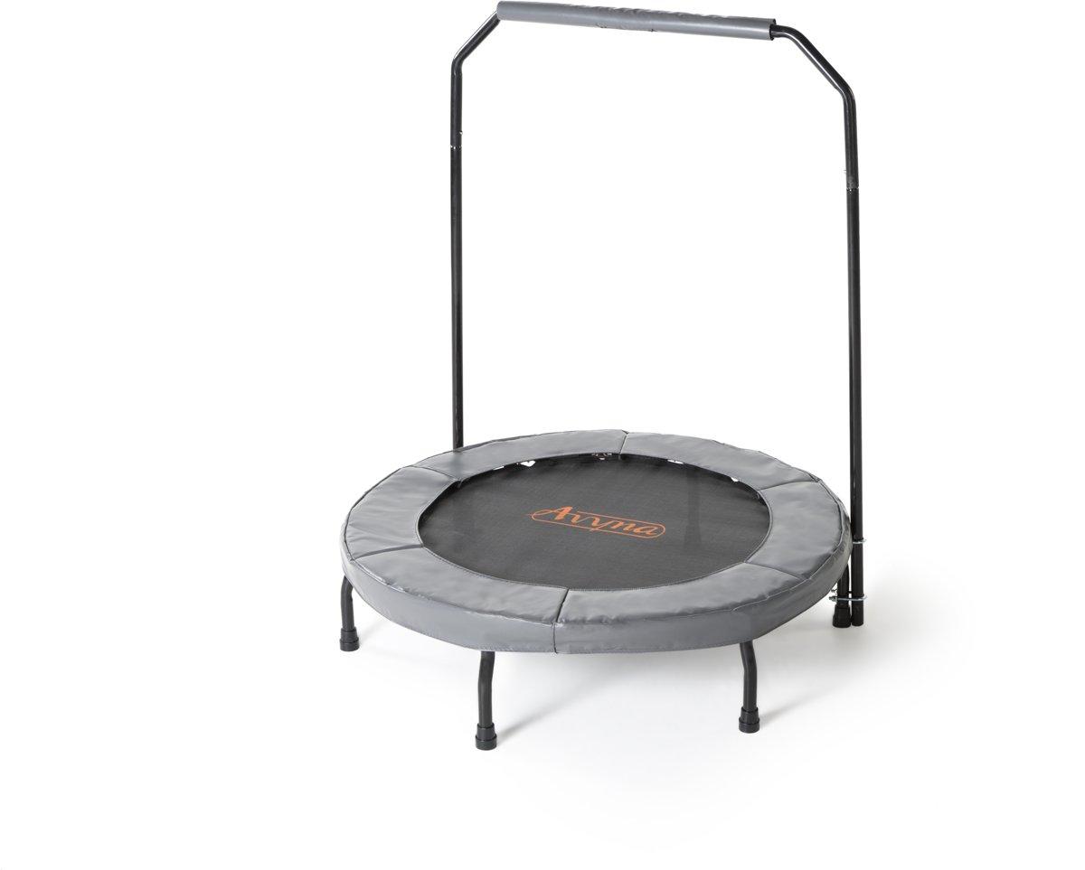 Avyna fitness trampoline PRO-LINE 40 (102cm) + handle en beschermrand grijs