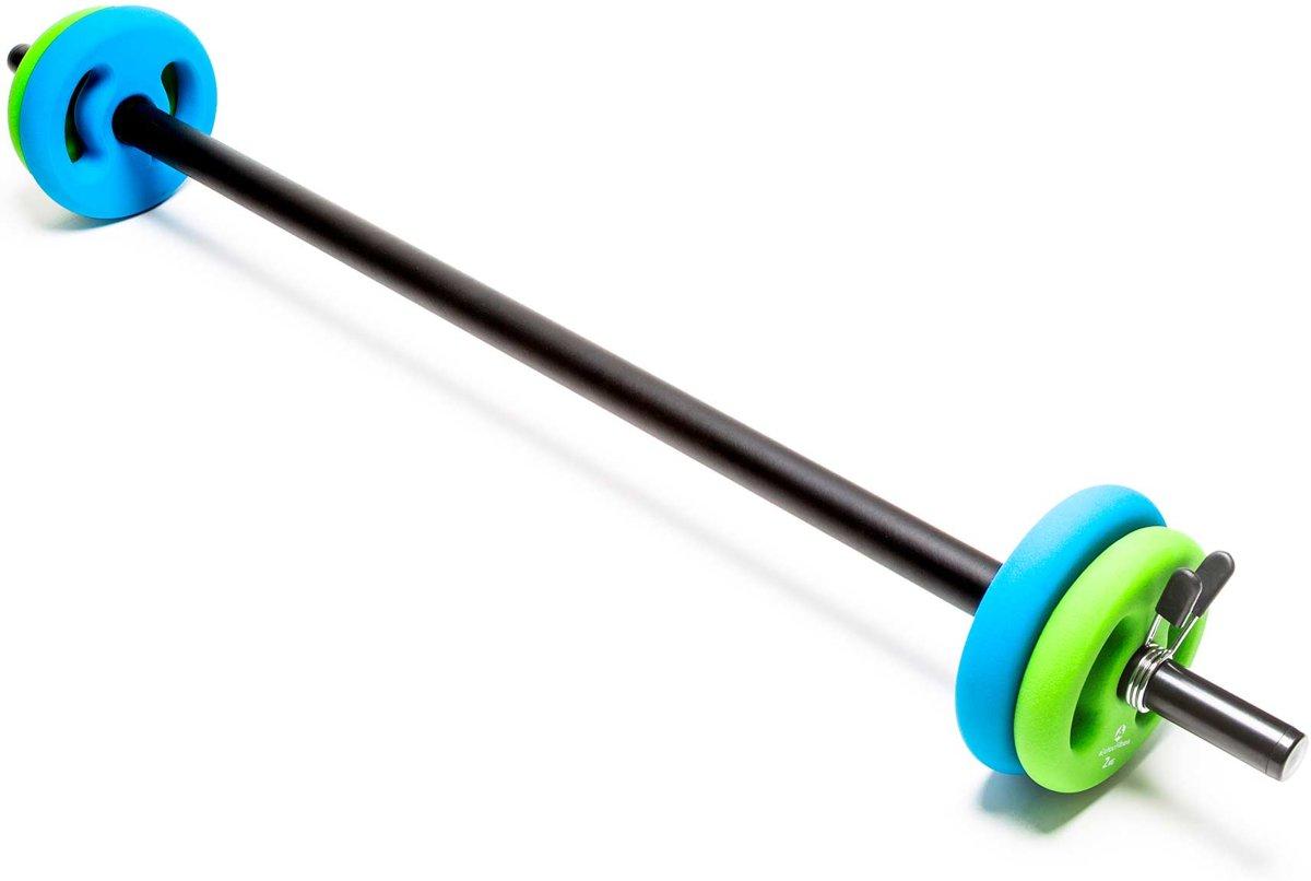 #DoYourFitness - Lange halterstang 117cm met padding - veersluiting - 100% gietijzer - 30/31mm boring - incl. halterschijven 2x2kg / 2x3kg kopen