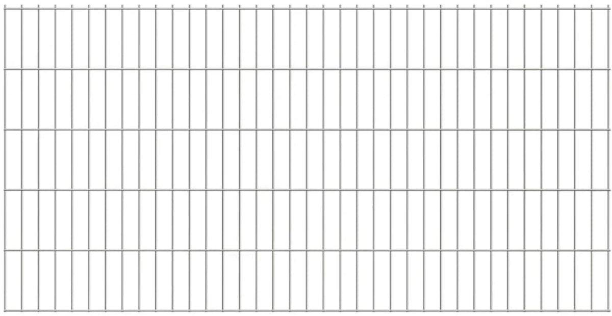 Dubbelstaafmatten 2008 x 1030mm 40m Zilver 20 stuks (incl. Werkhandschoenen)