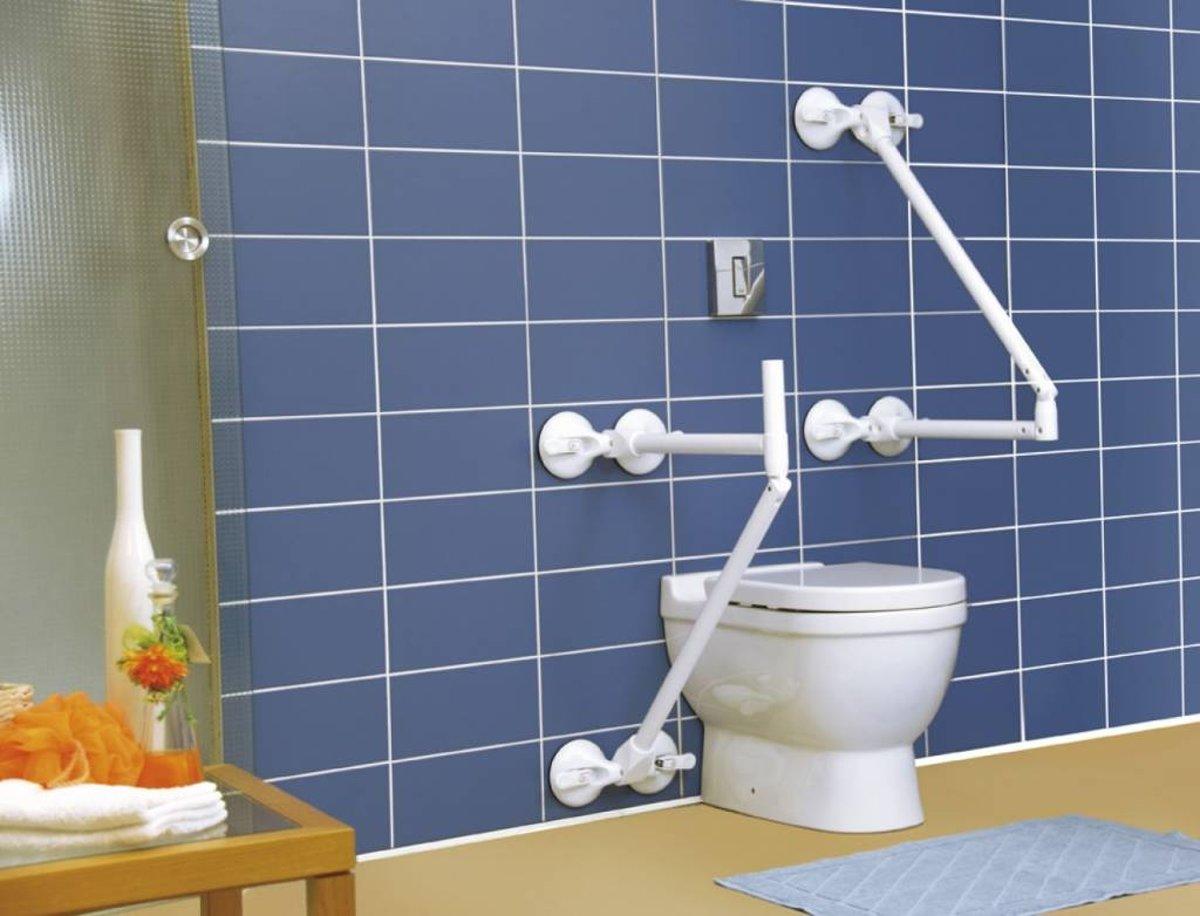 Toiletbeugel op 4 zuignappen QuattroPower Mobeli® met extra handgreep kopen