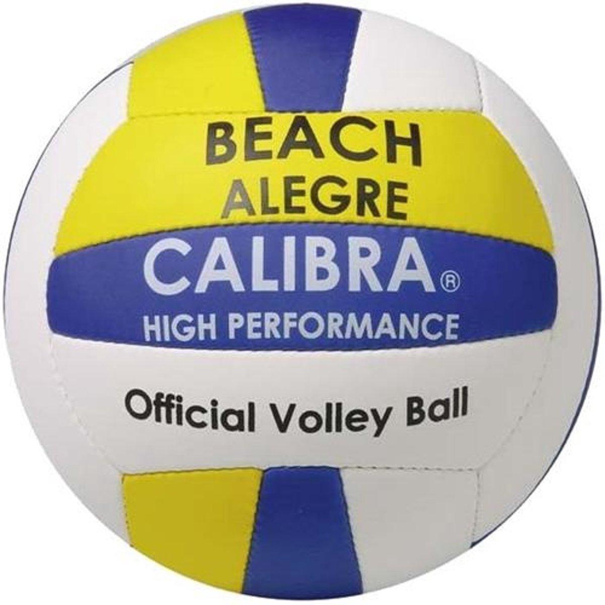 Calibra Beachvolleybal Alegre Wit/geel/blauw Maat 5 kopen