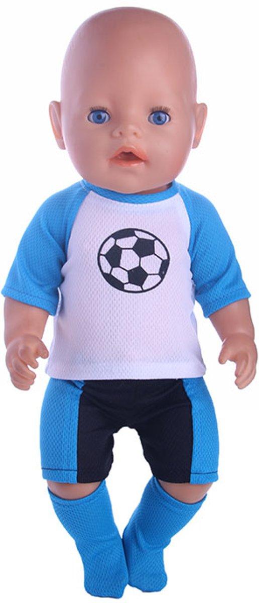 B-Merk Baby Born pakje, voetbal, blauw/wit