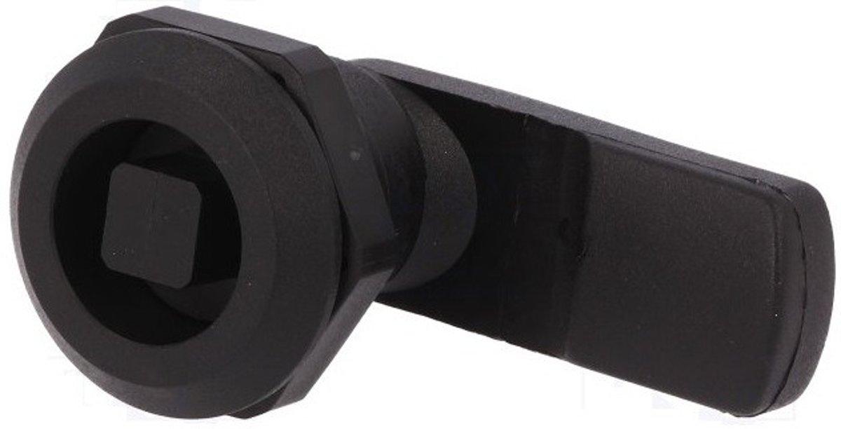 Kunststof kantelslot - vierkant KW8 - M22 - 12mm afsluithendel
