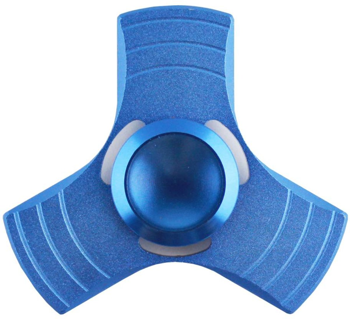 Hand Spinner / Metal look / Aluminium / Tri Spinner / Anti-Stress / Concentratie verhogend in Blauw