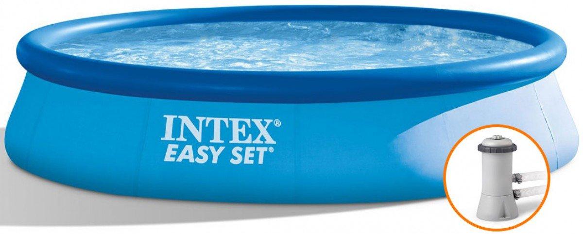 Intex Easy Set zwembad 396 x 84 met pomp (met reparatiesetje)