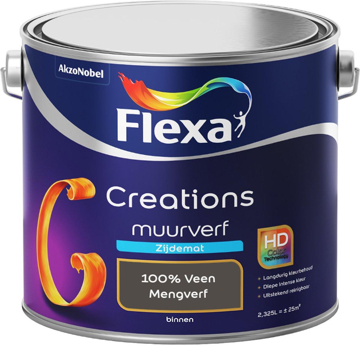 Flexa Creations - Muurverf Zijde Mat - Mengkleuren Collectie - 100% Veen  - 2,5 liter