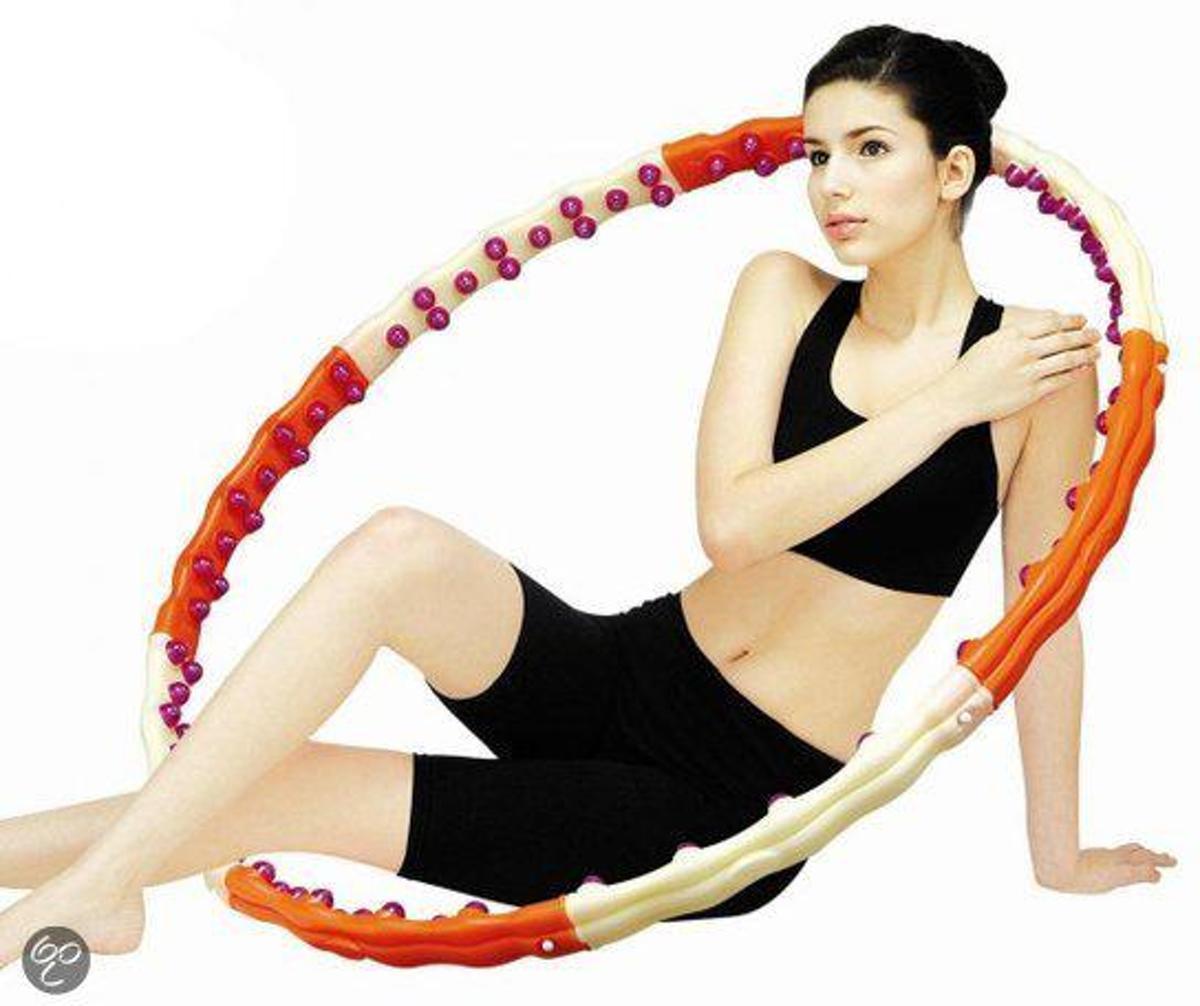 Health Hoop Jemimah - Fitness Hoelahoep - 1.7 kg - Ø 107 cm - Oranje/Beige kopen