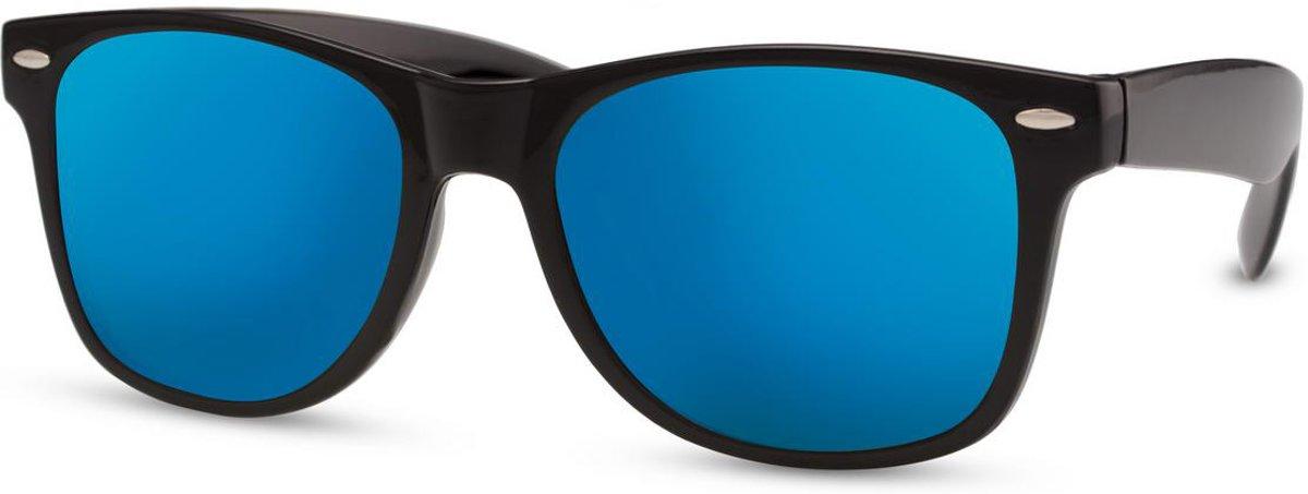 97239e1d92b36d Cheapass Zonnebrillen  goedkope wayfarer zonnebril met blauwe spiegelglazen  kopen