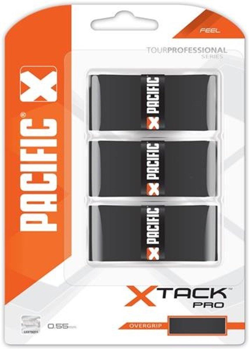 Pacific X Tack Pro Overgrip Feel Zwart 0.55 Mm 3 Stuks kopen