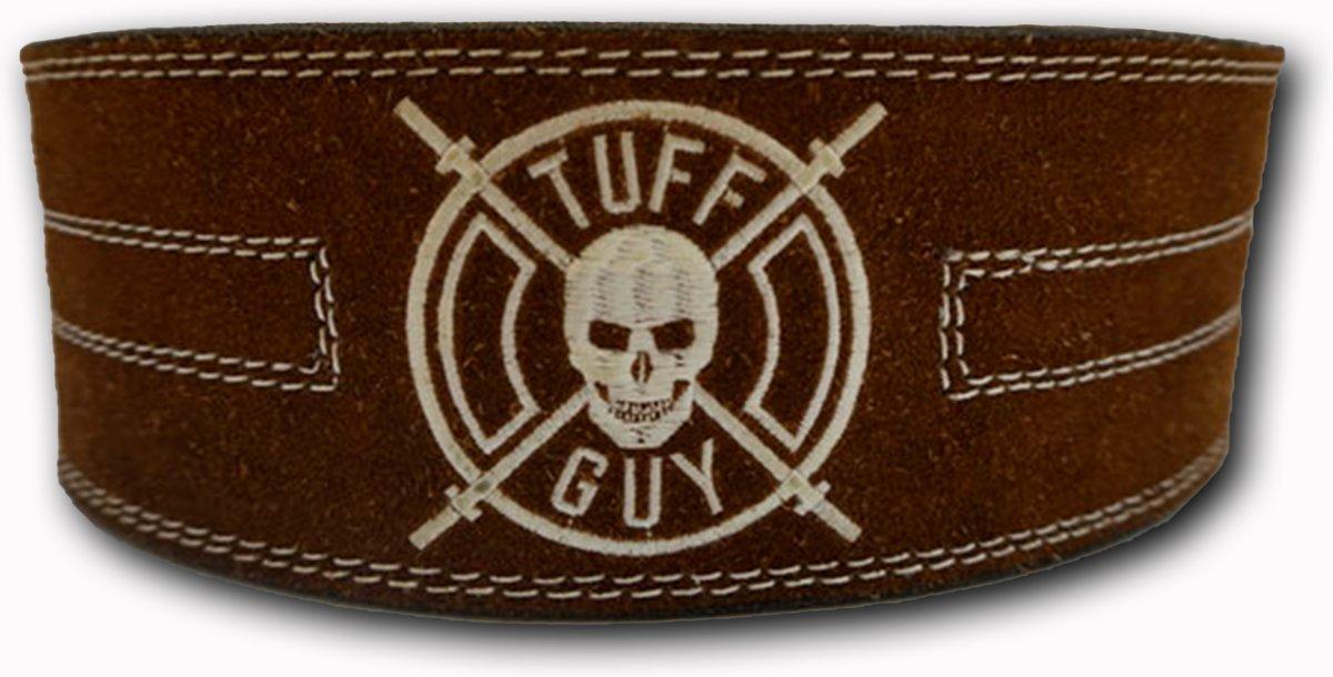 Brown Suede Lifting Belt, Gewichthefriem met dubbele gesp sluiting maat XL, met 12mm dikte kopen
