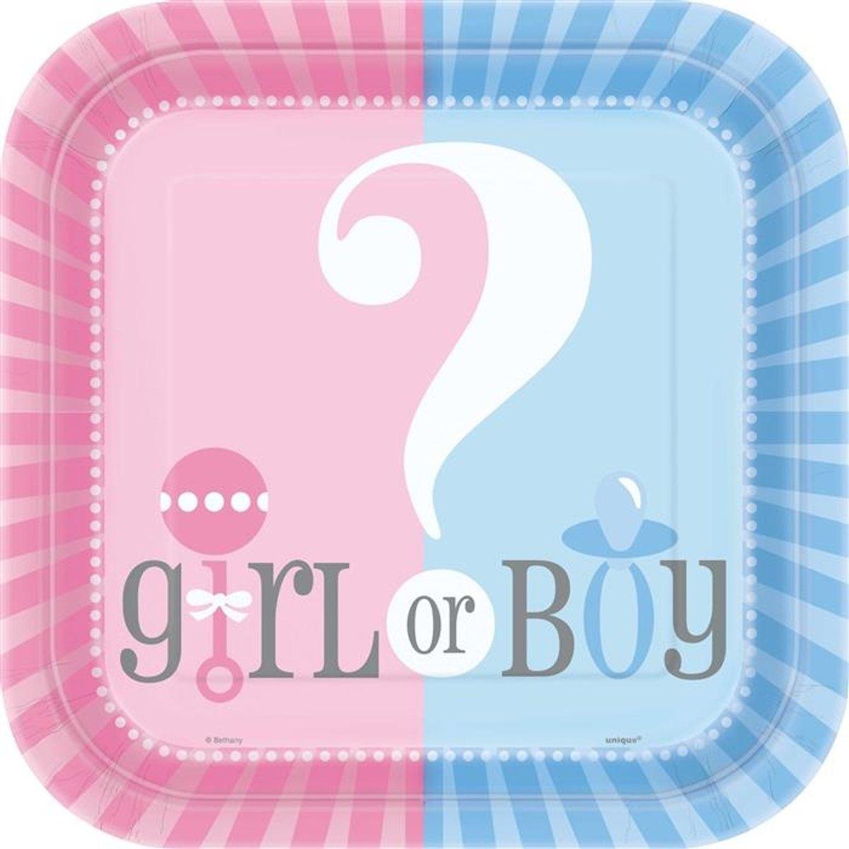 8 x borden Gender Reveal kopen