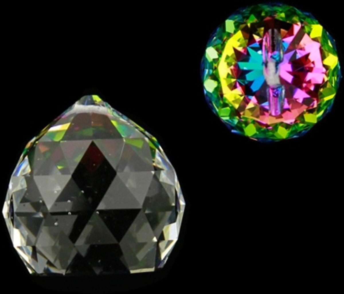 Yogi & Yogini naturals Regenboogkristal bol multicolor AAA kwaliteit (4 cm ) kopen
