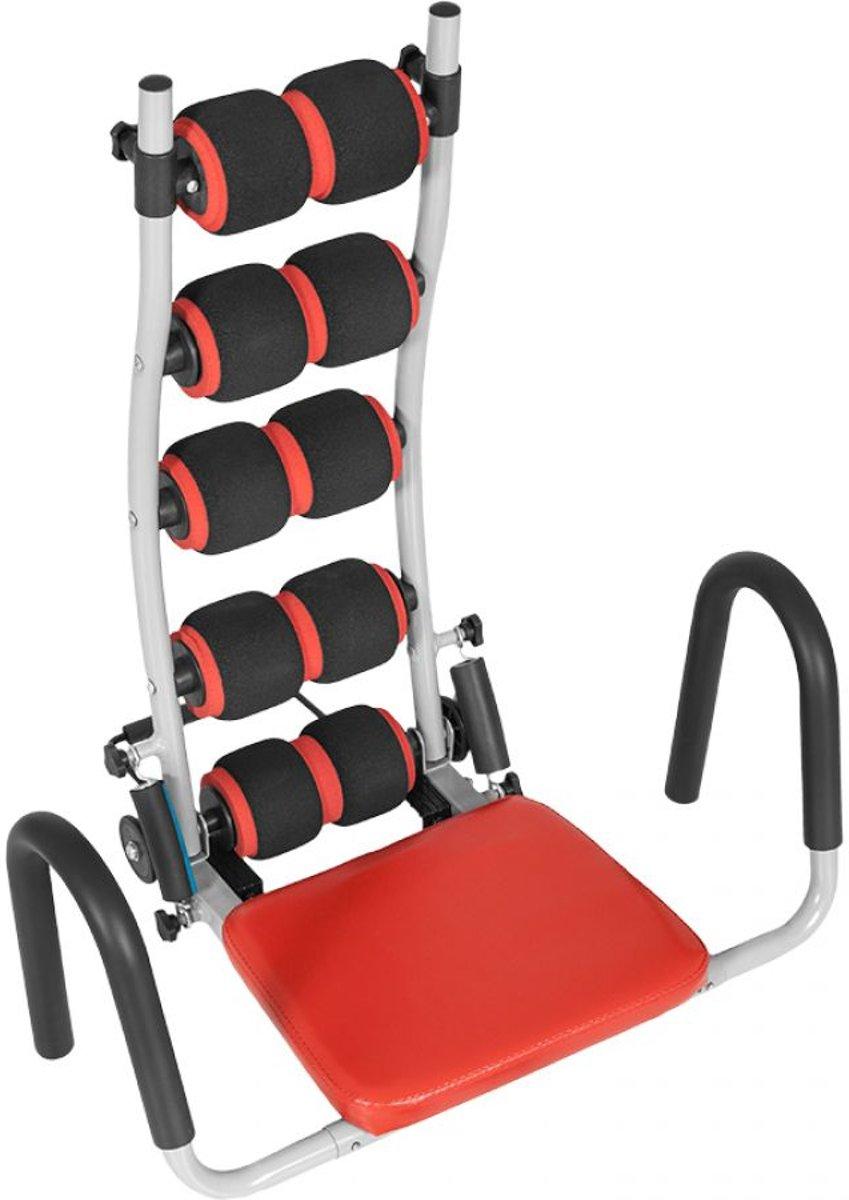 Gorilla Sports Buikspierstoel Staal tot 120 kg belastbaar Zwart / rood kopen