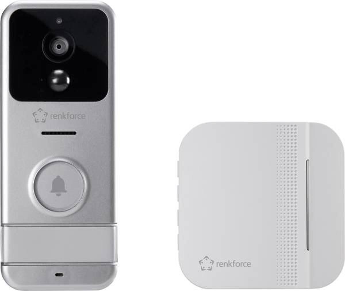 Renkforce RF-3206026 Complete set voor Video-deurintercom via WiFi WiFi, Radiografisch Zilver, Wit kopen