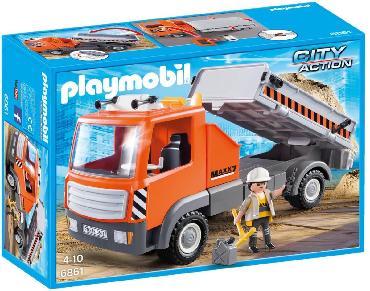 Kiepvrachtwagen Playmobil
