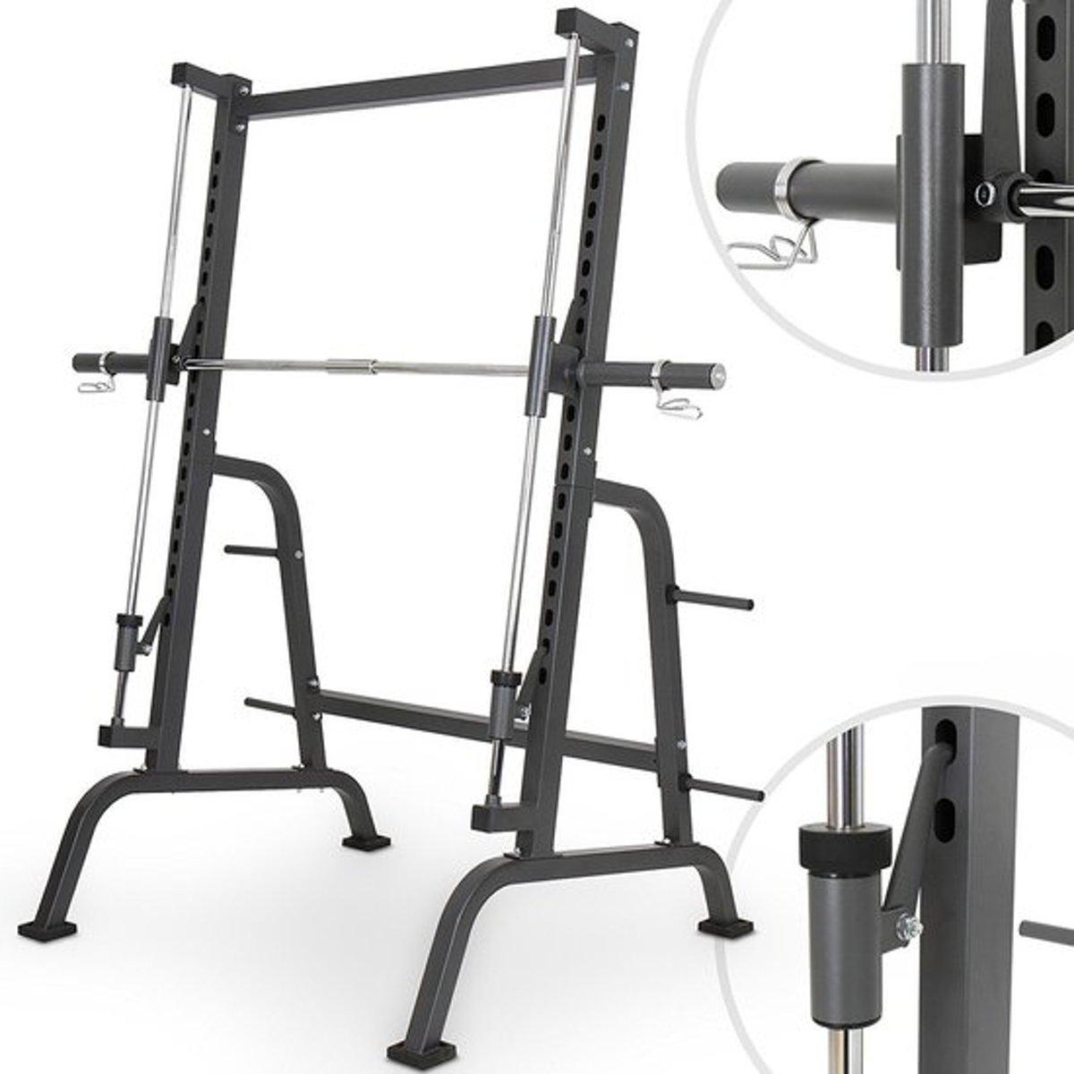 Physionics - Fitnessapparaat - Squats halterrek - Maximale belasting 250 kg kopen