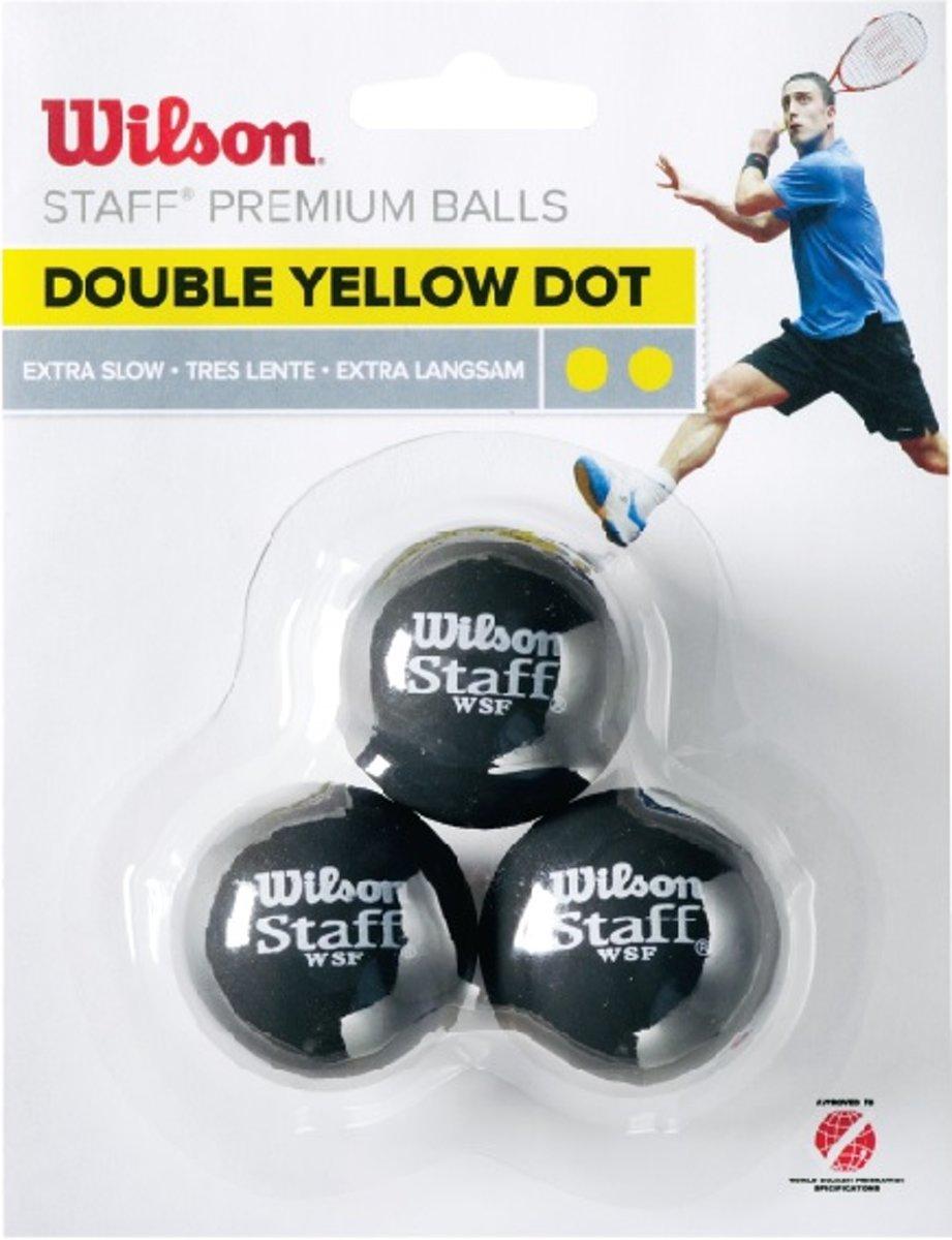 Wilson STAFF SQUASH 3 BALL DBL YEL DOT Squash