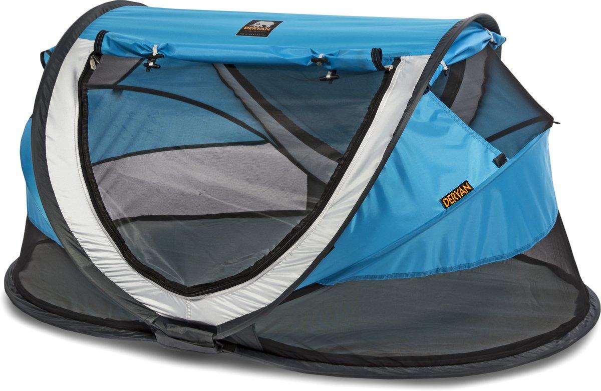 Deryan Baby Luxe Campingbedje Khaki.Overige Deryan Travel Cot Peuter Luxe Blauw Tropicalweather