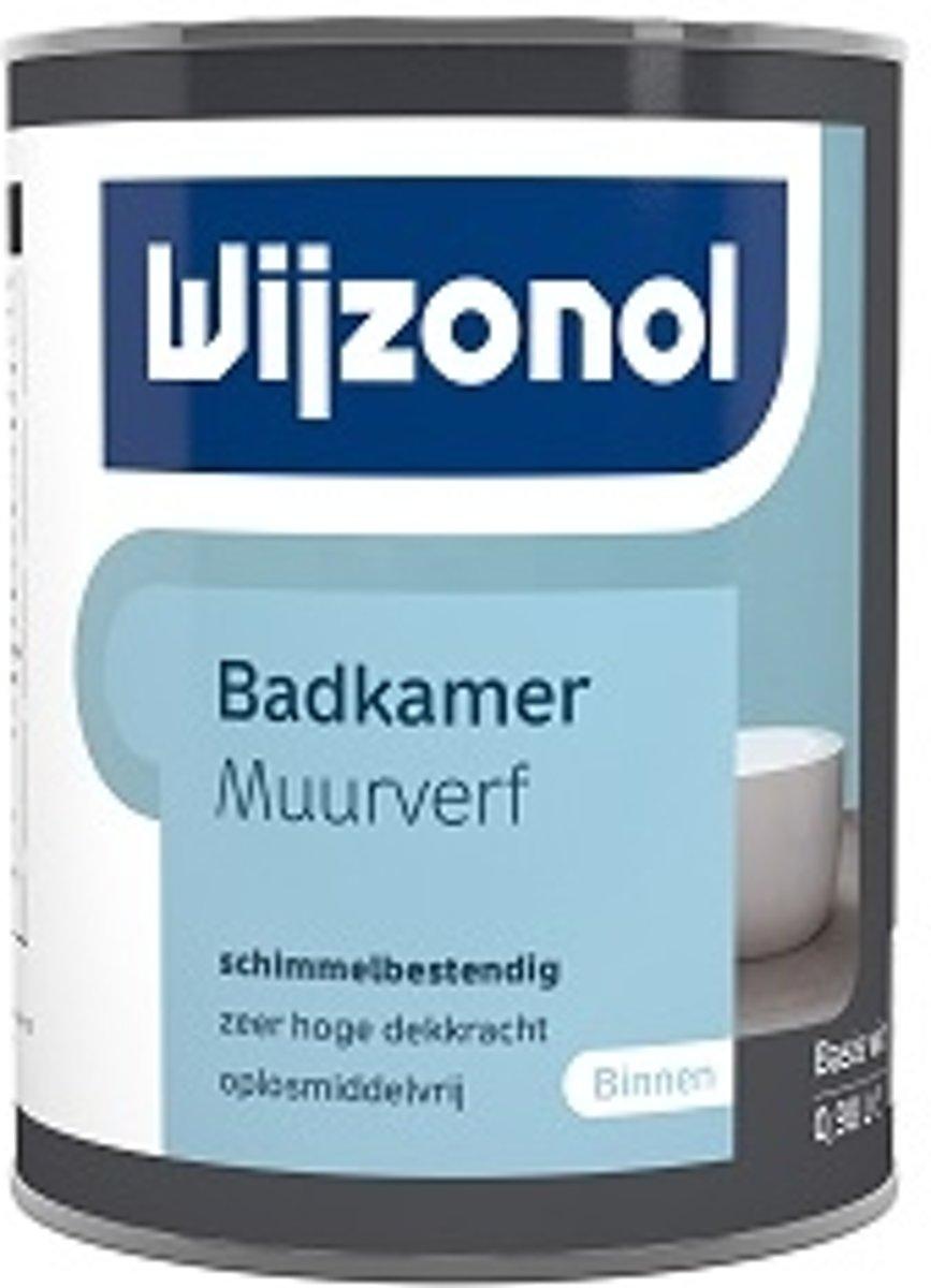 bol.com | Wijzonol Muurverf Badkamer RAL 9003 Signaalwit 2,5 Liter
