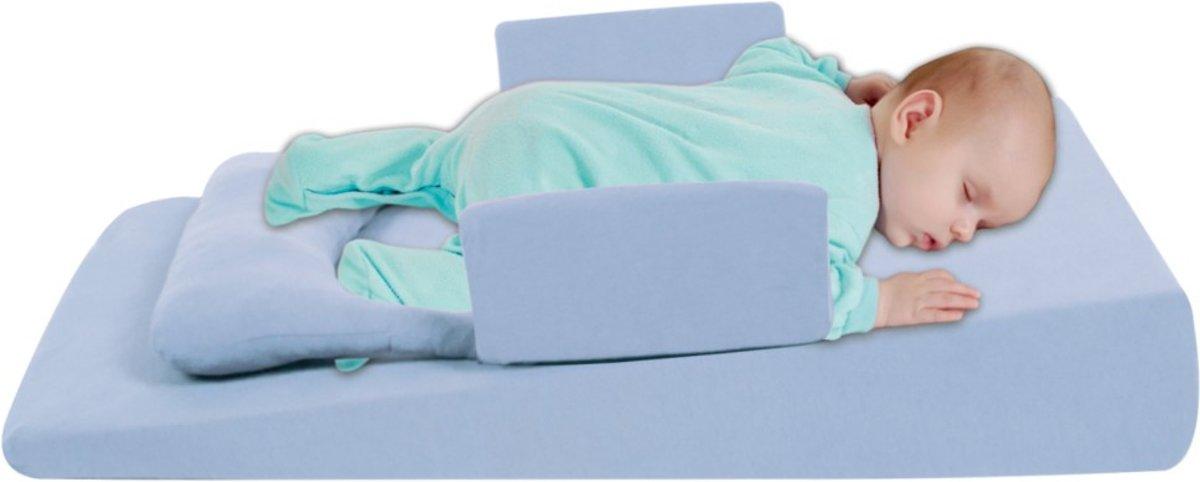Baby anti reflux matras blauw