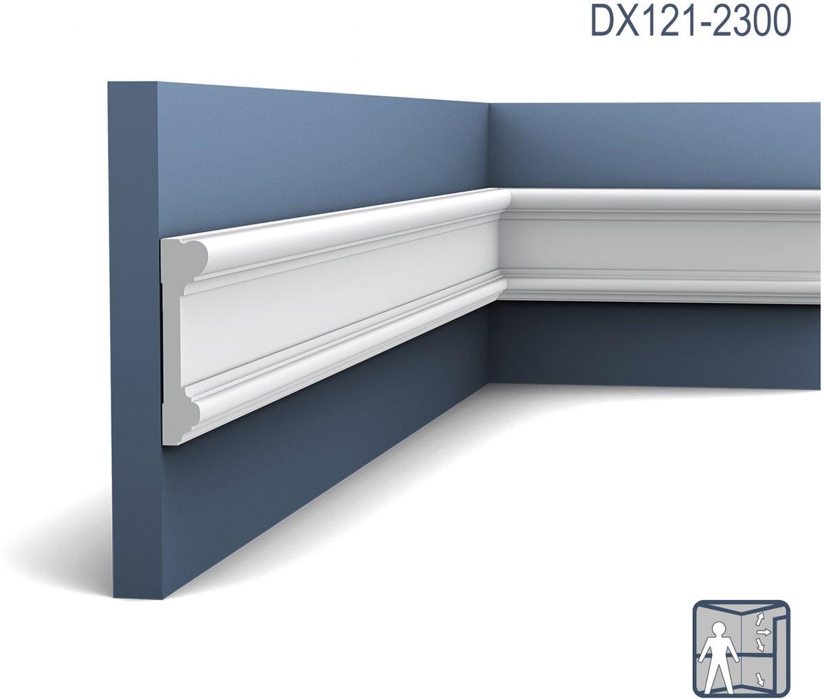 Deuromlijsting Origineel Orac Decor DX121-2300 LUXXUS Multifunctioneel profiel Wandlijst Plint 2.3 m kopen