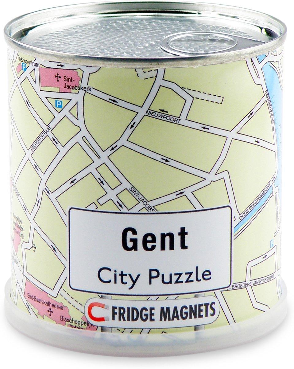 City Puzzle Gent - Puzzel - Magnetisch - 100 puzzelstukjes
