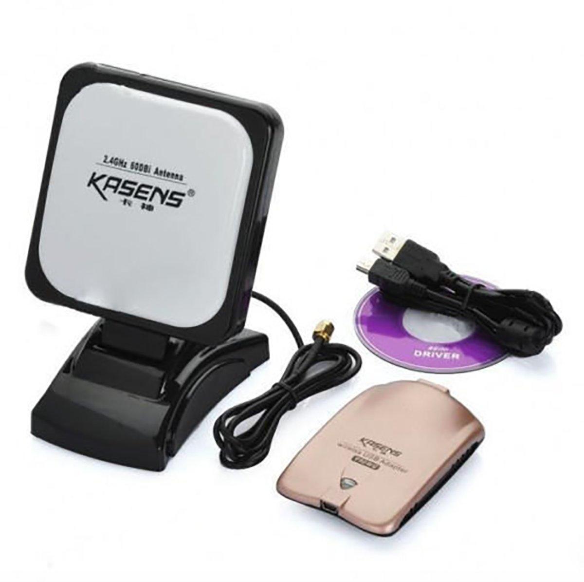 Draadloze USB adapter 60dBi WIRELESS 6000MW met antenne BT10