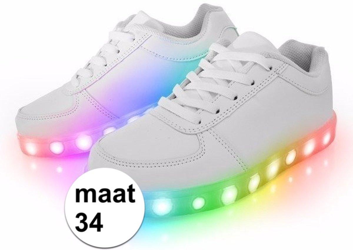 Lichtgevende disco schoenen sneakers LED maat 34 kinderen