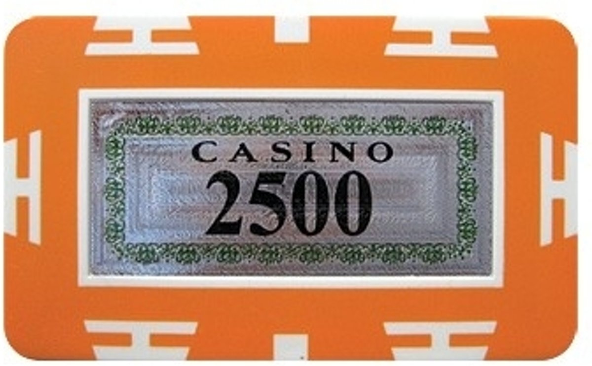 Poker Plak/Plaque Rectangle Chip 30 Gram ABS Oranje 2500 kopen
