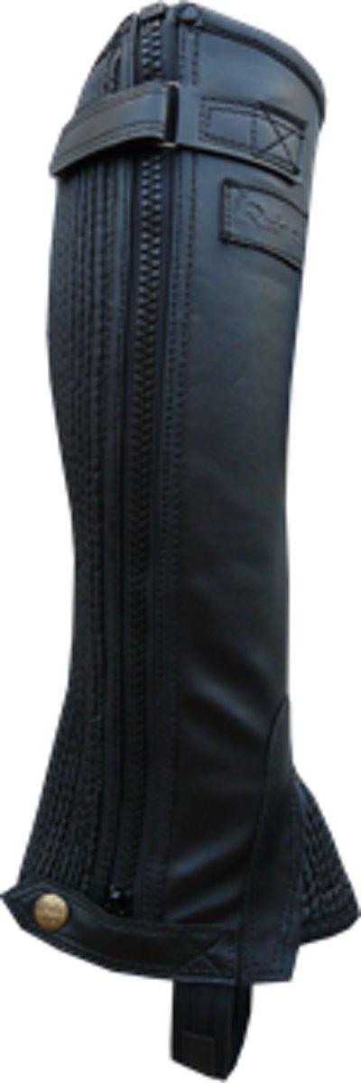 Minichaps Rider Pro Leatherlook zwart maat M