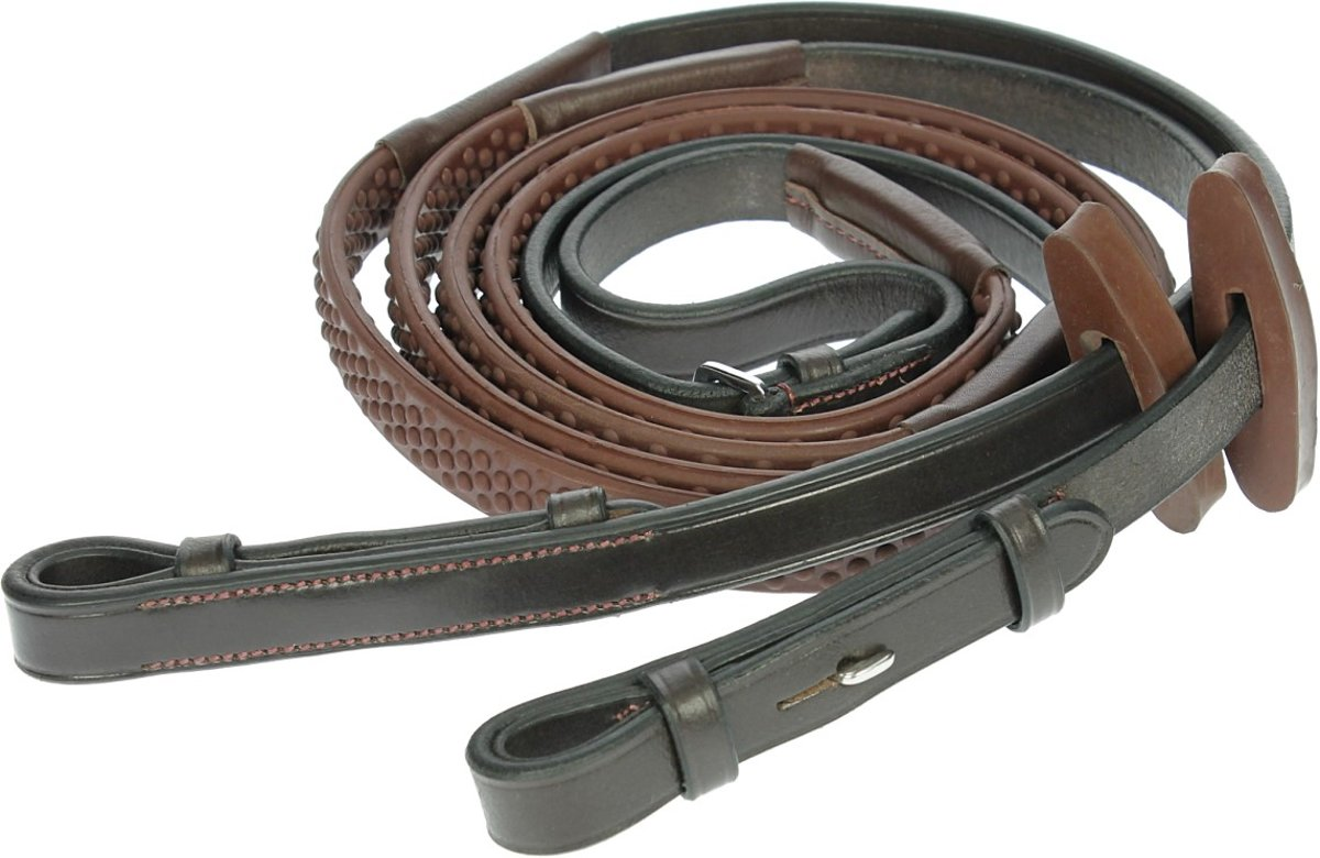 Horseware Teugel Rambo Micklem Competition - Dark Brown kopen