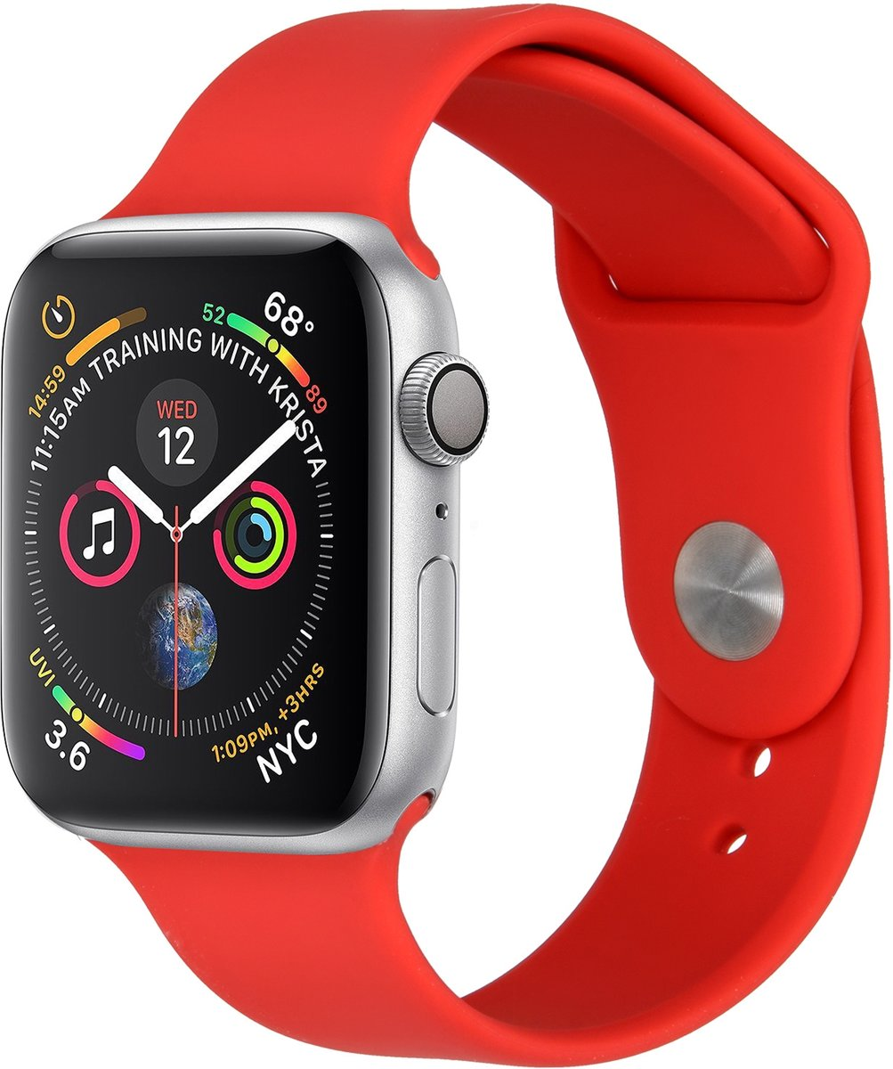 Rood siliconen sport bandje voor de Apple Watch 44 mm / 42 mm kopen