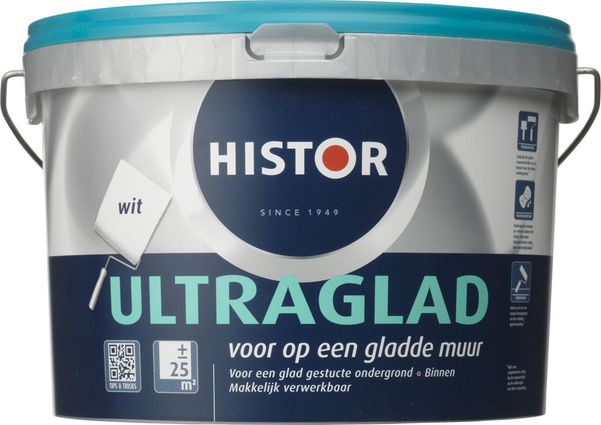 Muurverf Badkamer Histor : Bol histor ultraglad muurverf liter wit