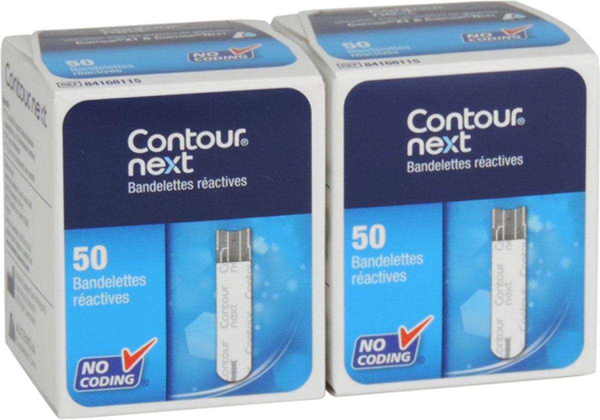 Ascensia Contour NEXT Sensoren, voor XT meter per 1 x 100 stuks