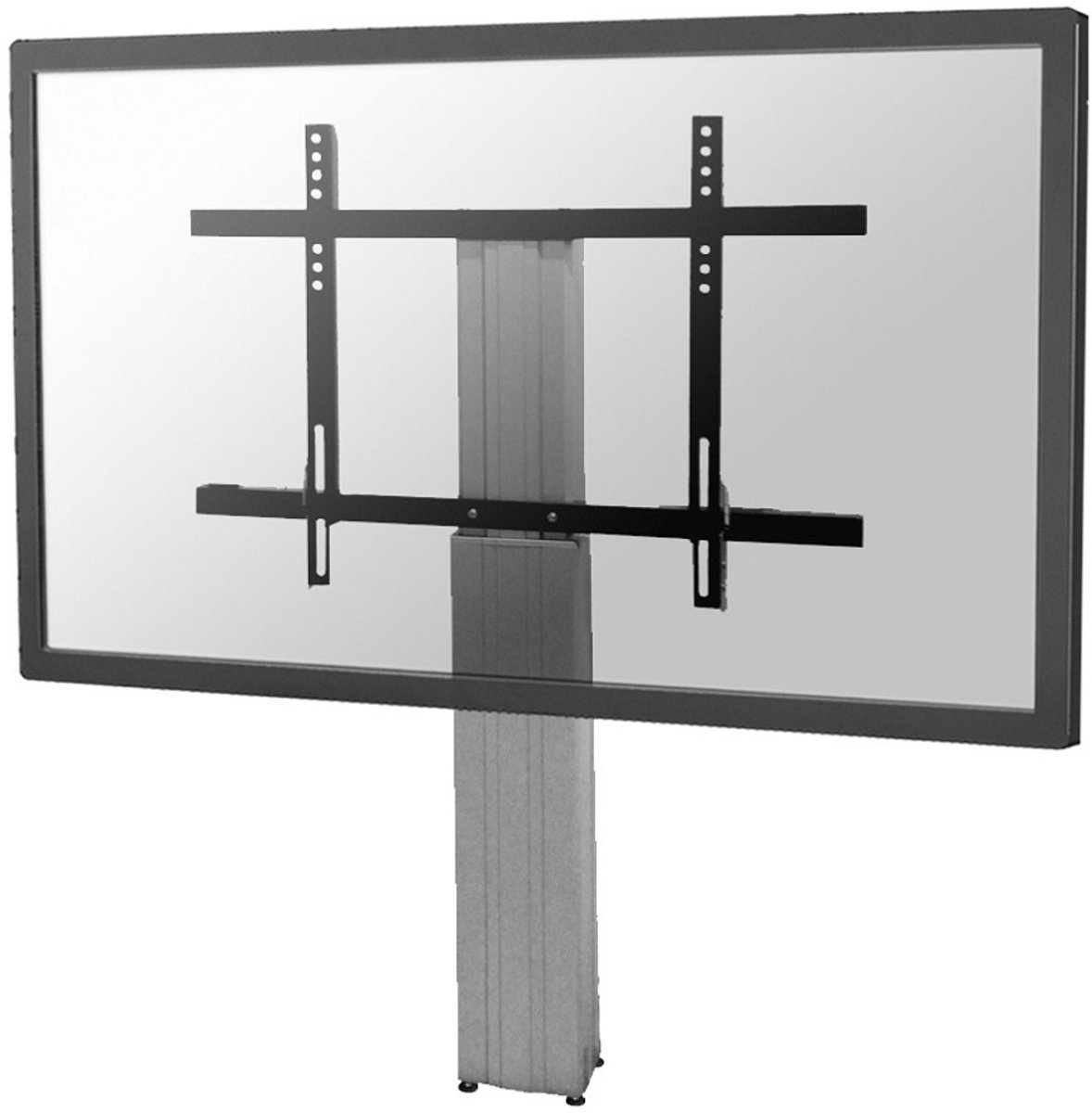 Newstar PLASMA-W2250SILVER Elektrisch verstelbare vloerstandandaard [1x 150kg, 42 - 100' inch, Black] kopen