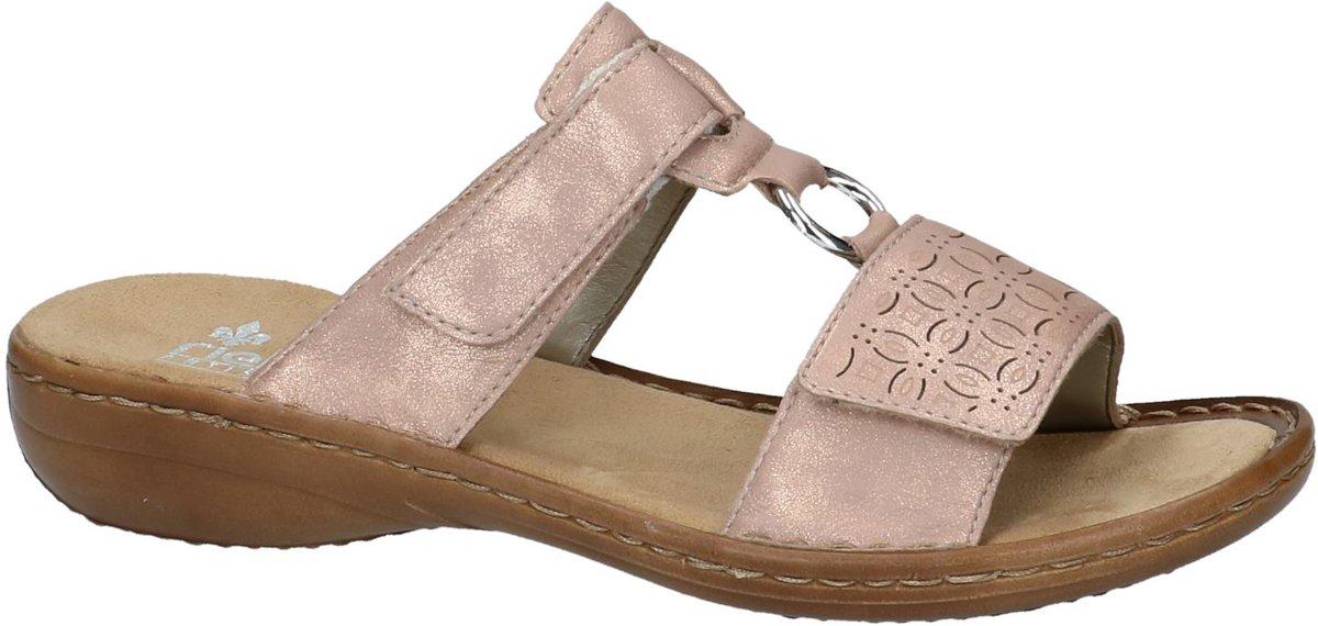 ed986a4226d02 bol.com | Rieker - 60818 - Elegante slipper - Dames - Maat 36 - Roze - 90  -Rosegold Aqalta