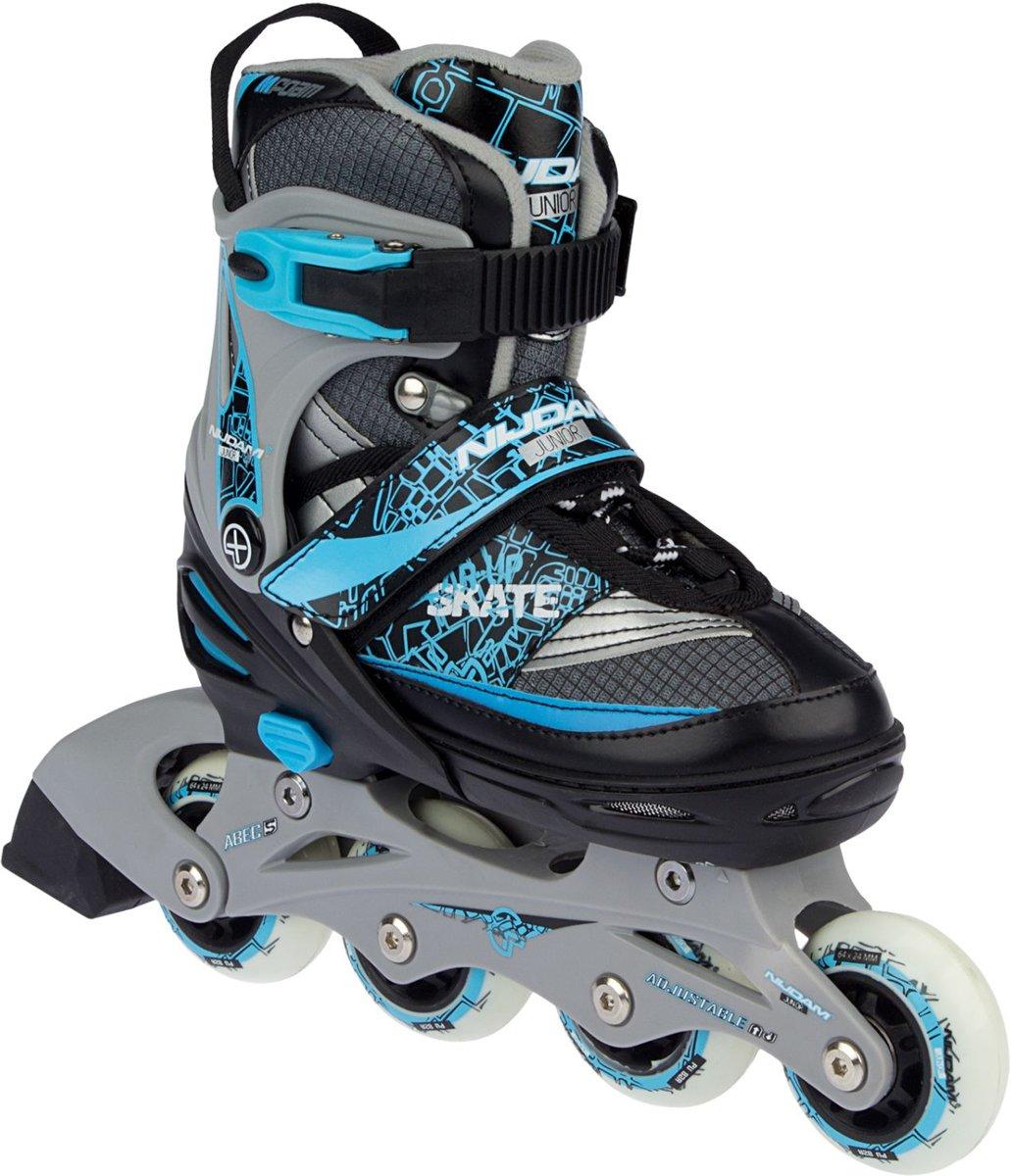 01ee33107fc bol.com | Nijdam Junior Skate/Schaats Combo - Semi-Softboot - Zwart - Maat  31-34