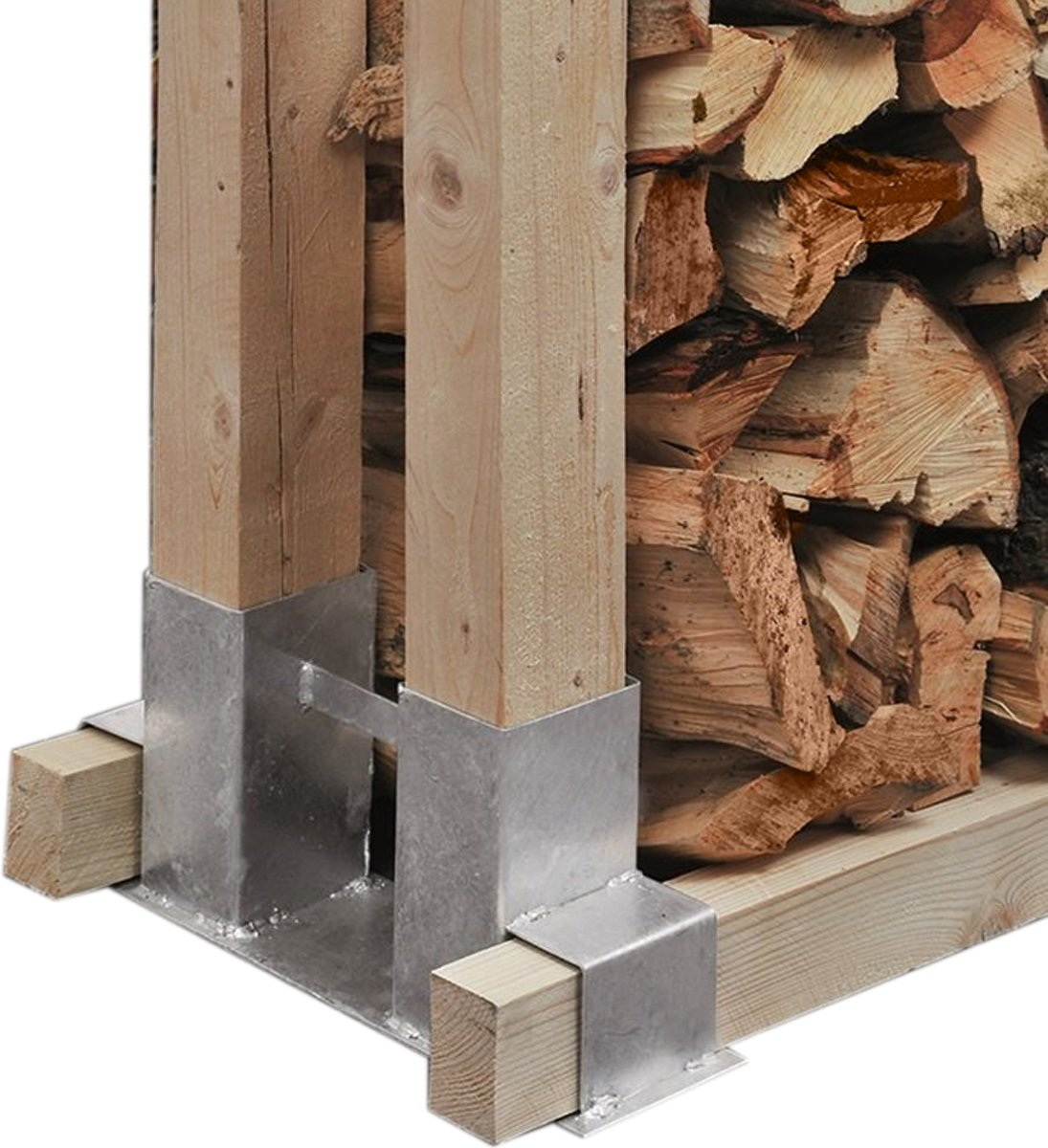 Intergard Houtstapelhouder houtbergingsteun openhaardhout houtberging