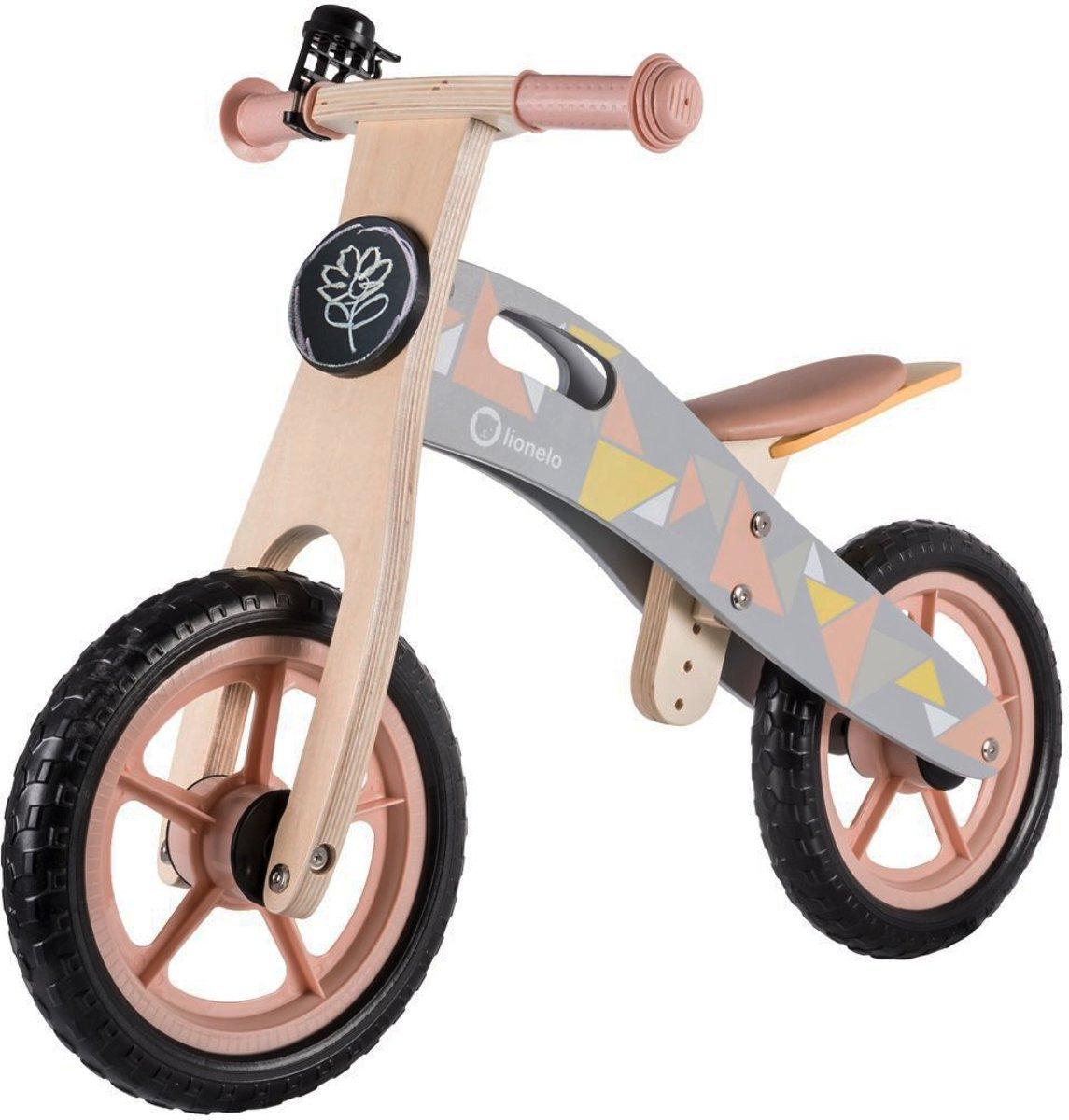 Lionelo Casper - lichtgewicht houten loopfiets - Roze