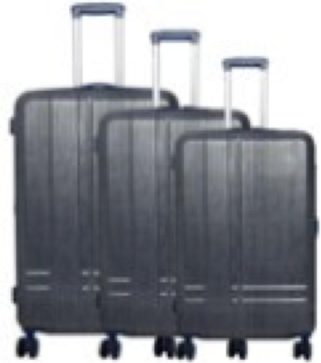 3 delig koffer set 100% polycarbonaat Samos blauw kopen