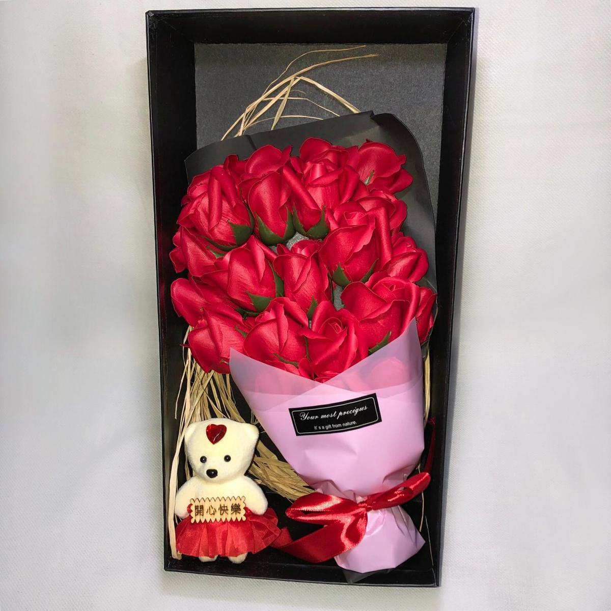 Bloemen box voorzien van 23 kunstbloemen / bloemen doos / perfecte cadeau/ Moederdag/ Valentijns/ verjaardag/ gift set / bloemen boeket kopen
