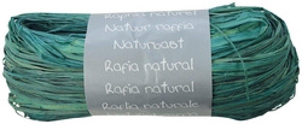 Clairefontaine raffia natuurlijke bast turquoise