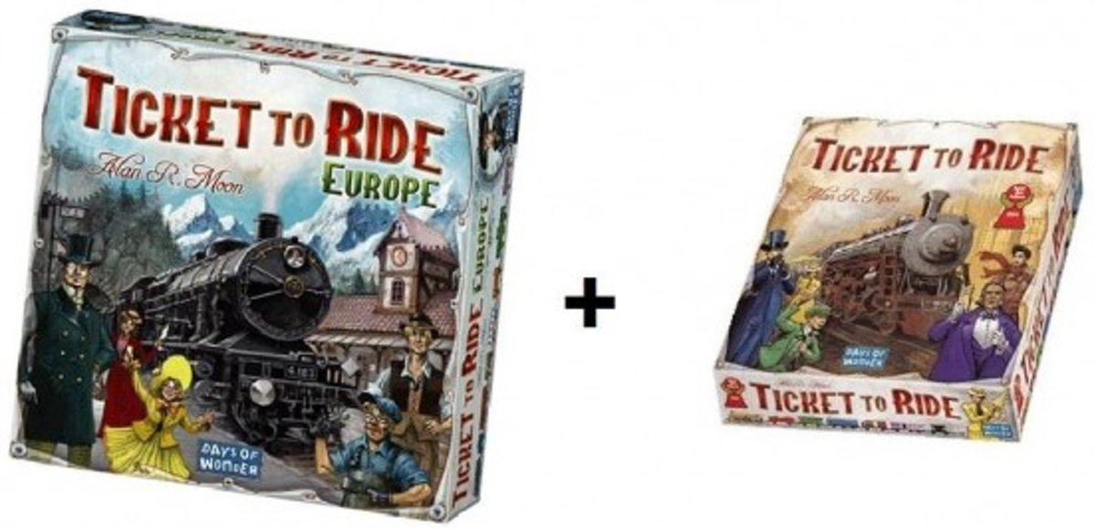 Ticket to Ride Europe + Ticket to Ride USA - Bordspel - Combi Deal